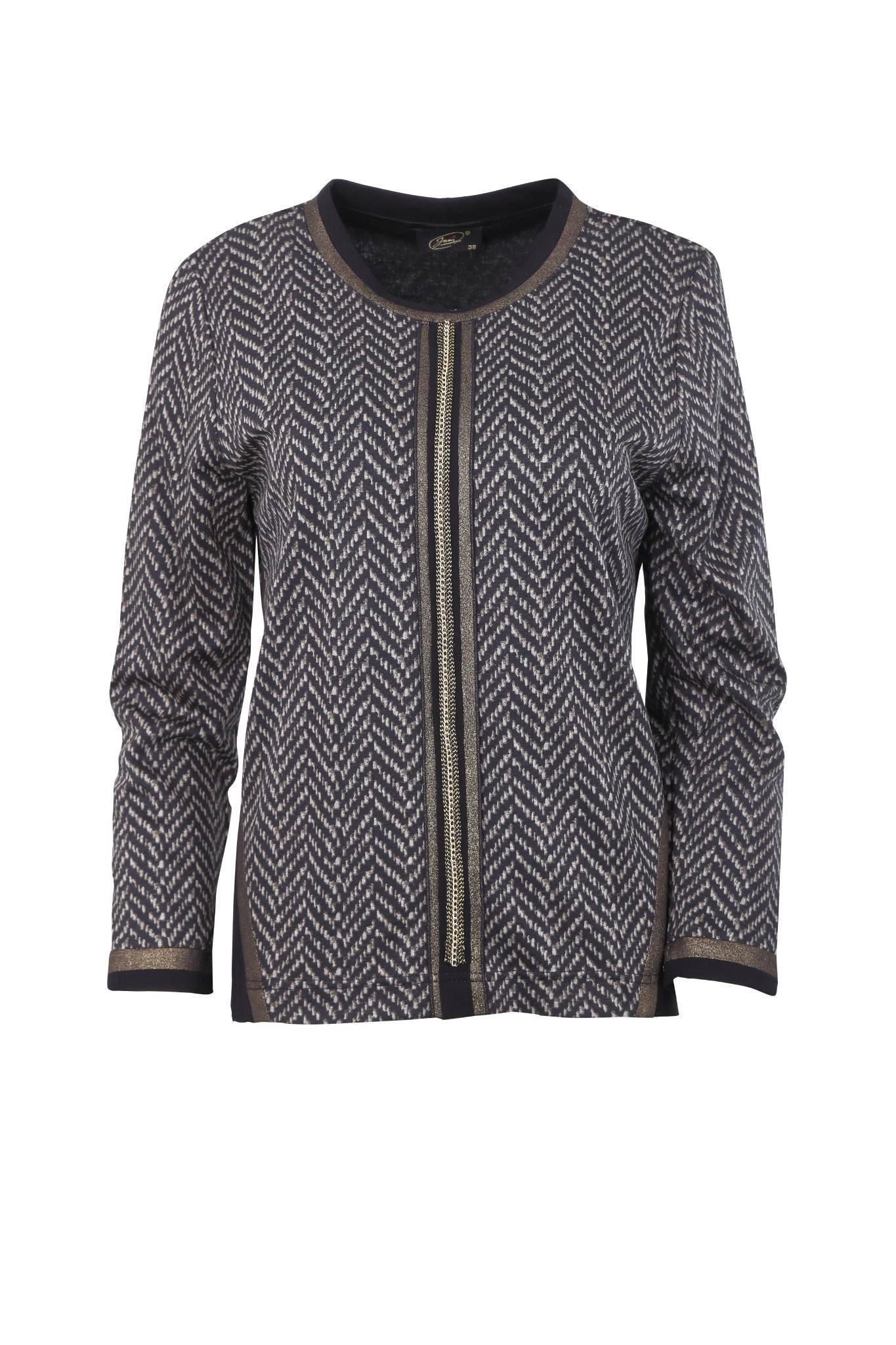 1152 Jumitex elegancka bluzka z deseniem jodełkowym (2)