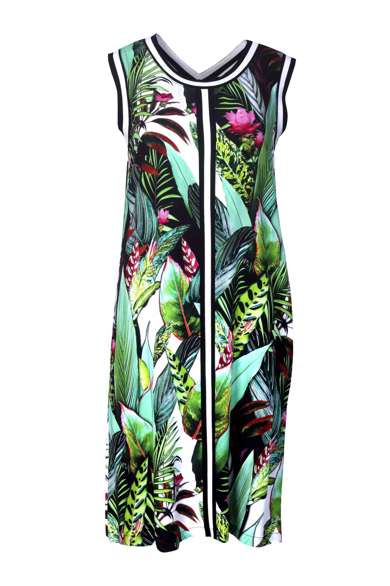 1195 Jumitex letnia rozszerzana sukienka w kwiaty (1)