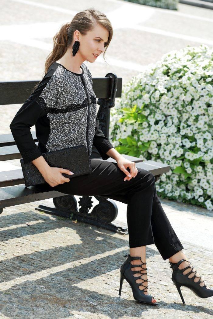bluzka czarno-szara