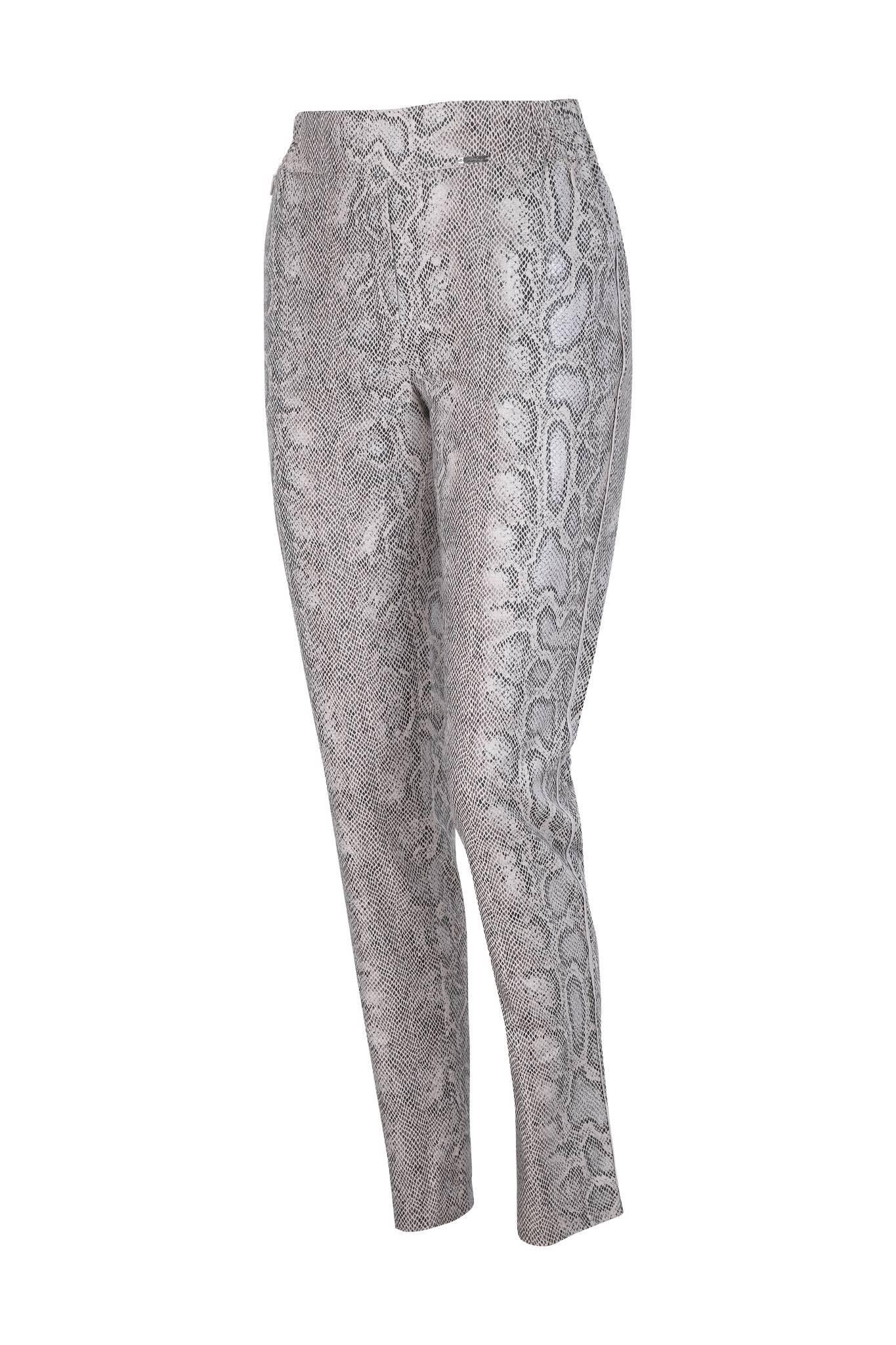 1249 Jumitex spodnie ze wzorem wężowym