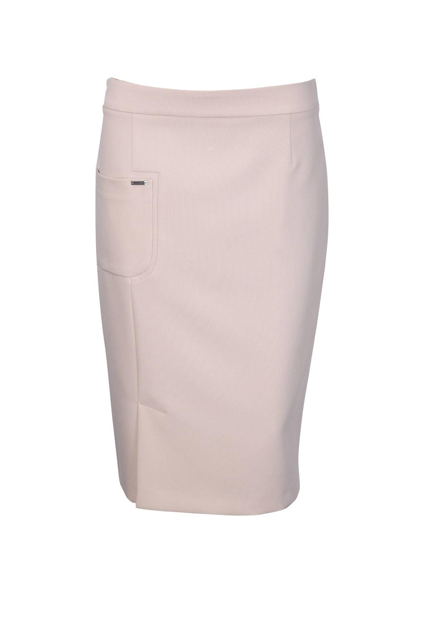 1186 Jumitex ołówkowa spódnica z rozporkiem