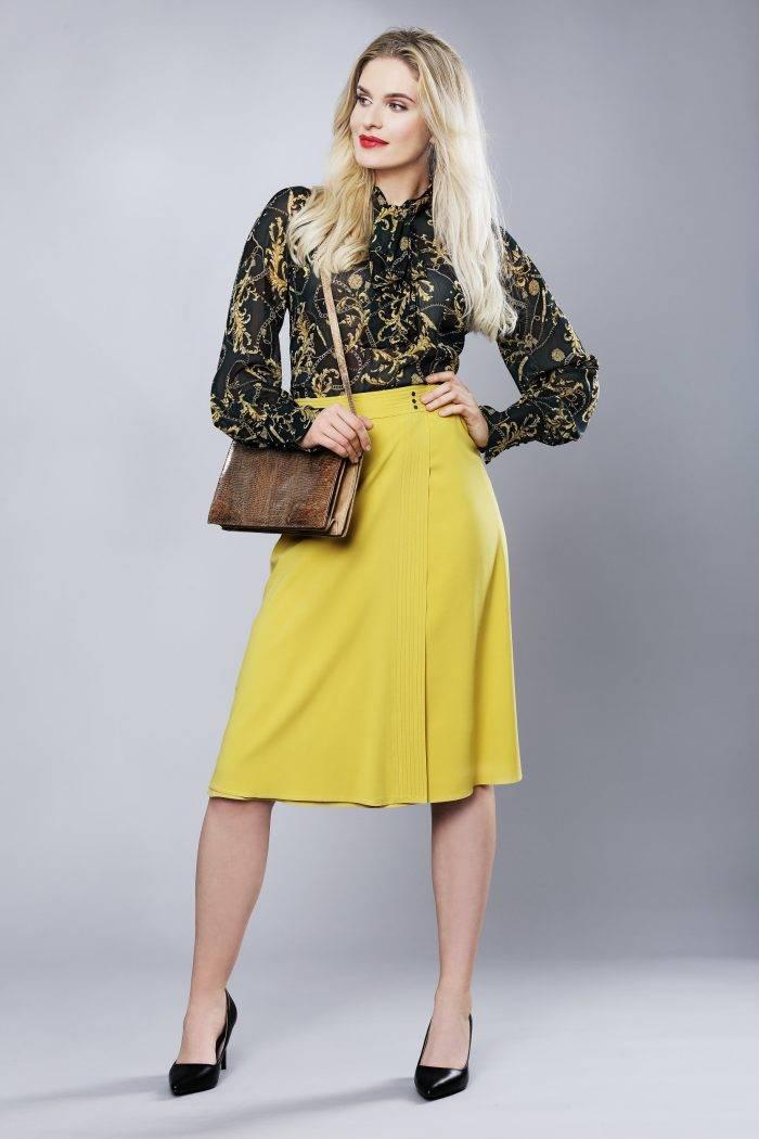 Spódnica zakładana w żółtym kolorze firmy Jumitex