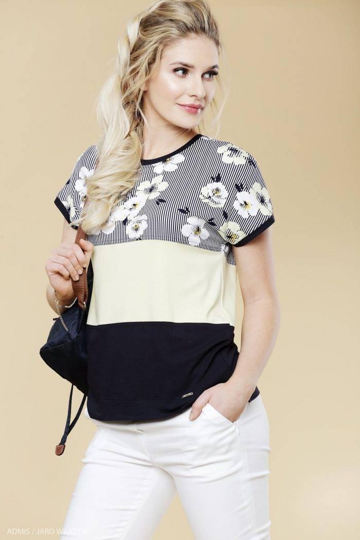wiosenno-letnia bluzka z kimonowym rękawem