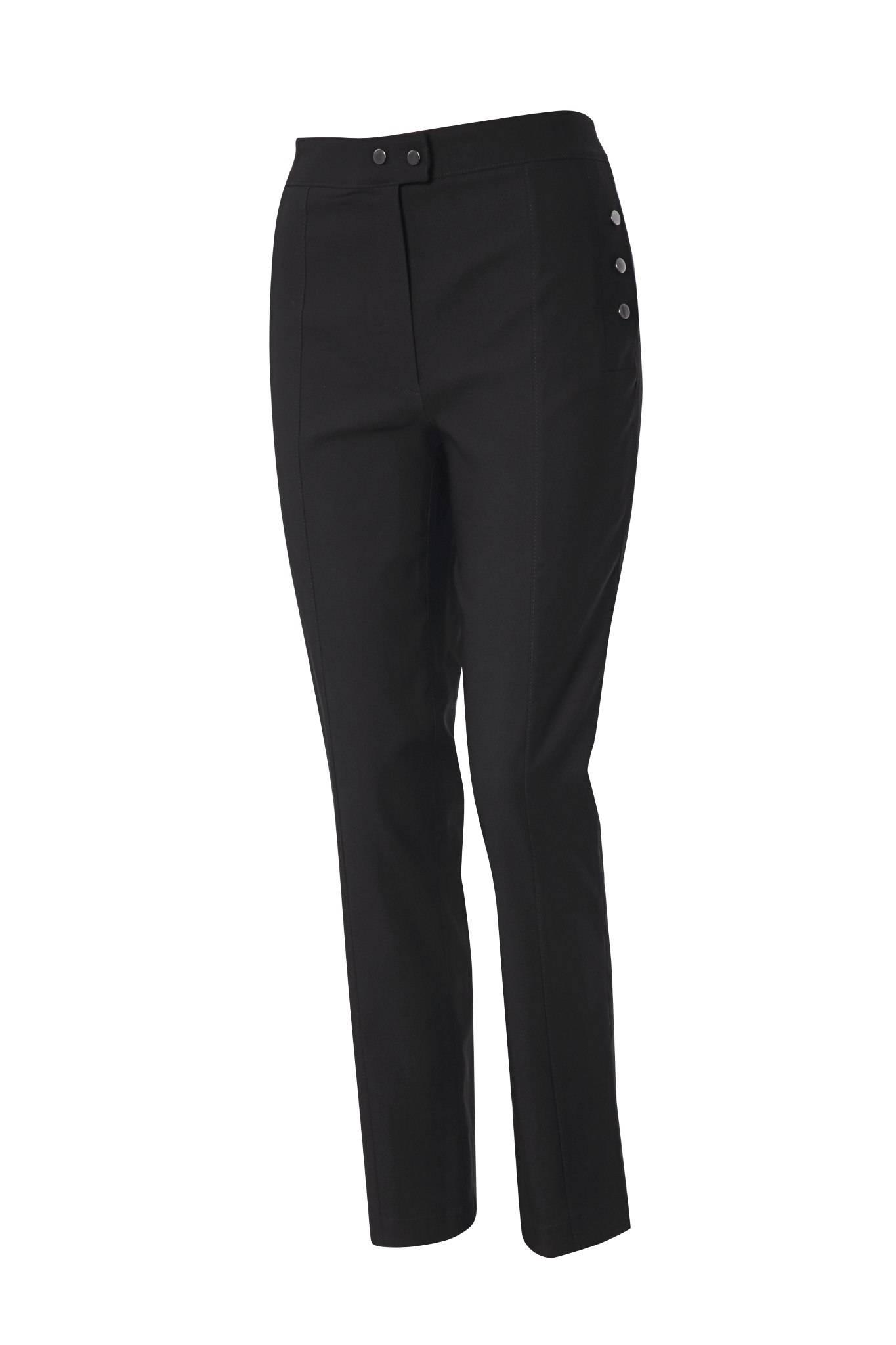 1216 Jumitex czarne spodnie damskie przod