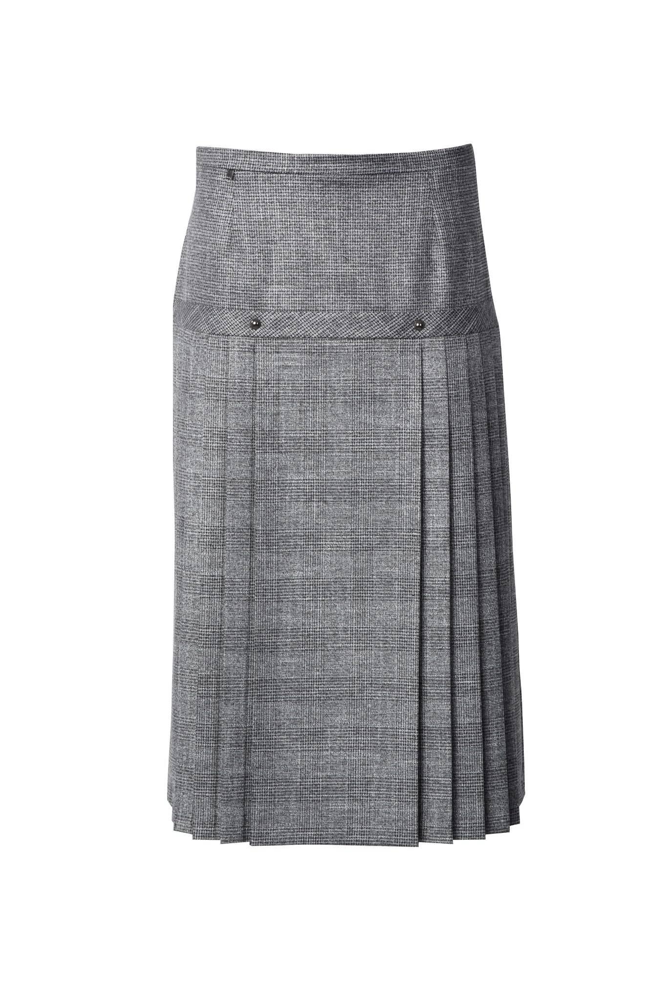 1232 Jumitex szara spodnica w kratke przod