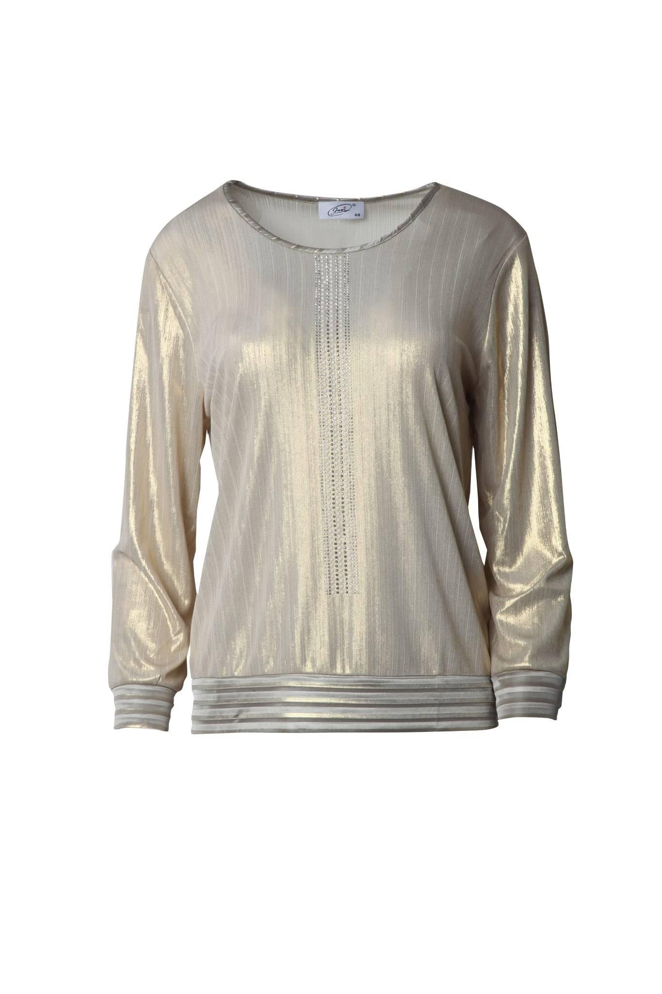 1237 Jumitex złota bluzka przód