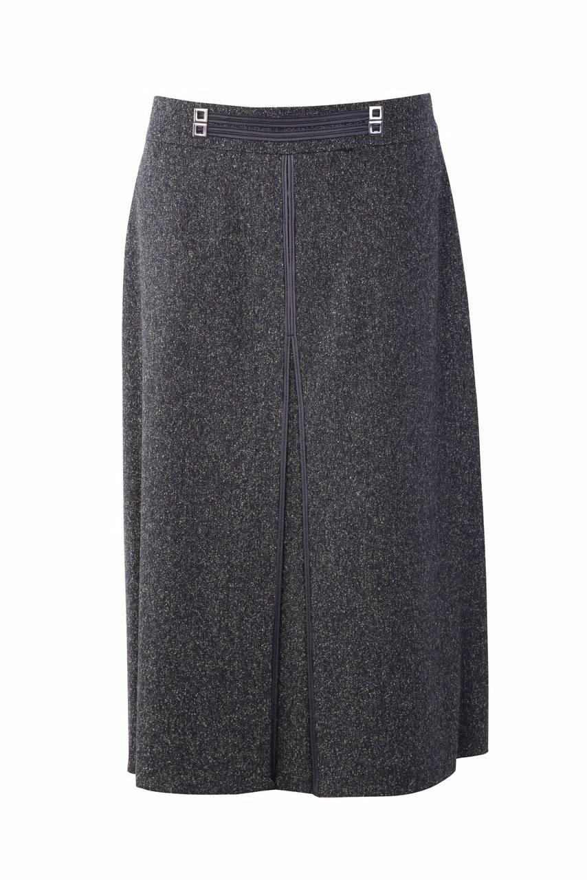 845 Jumitex tweedowa spodnica przod