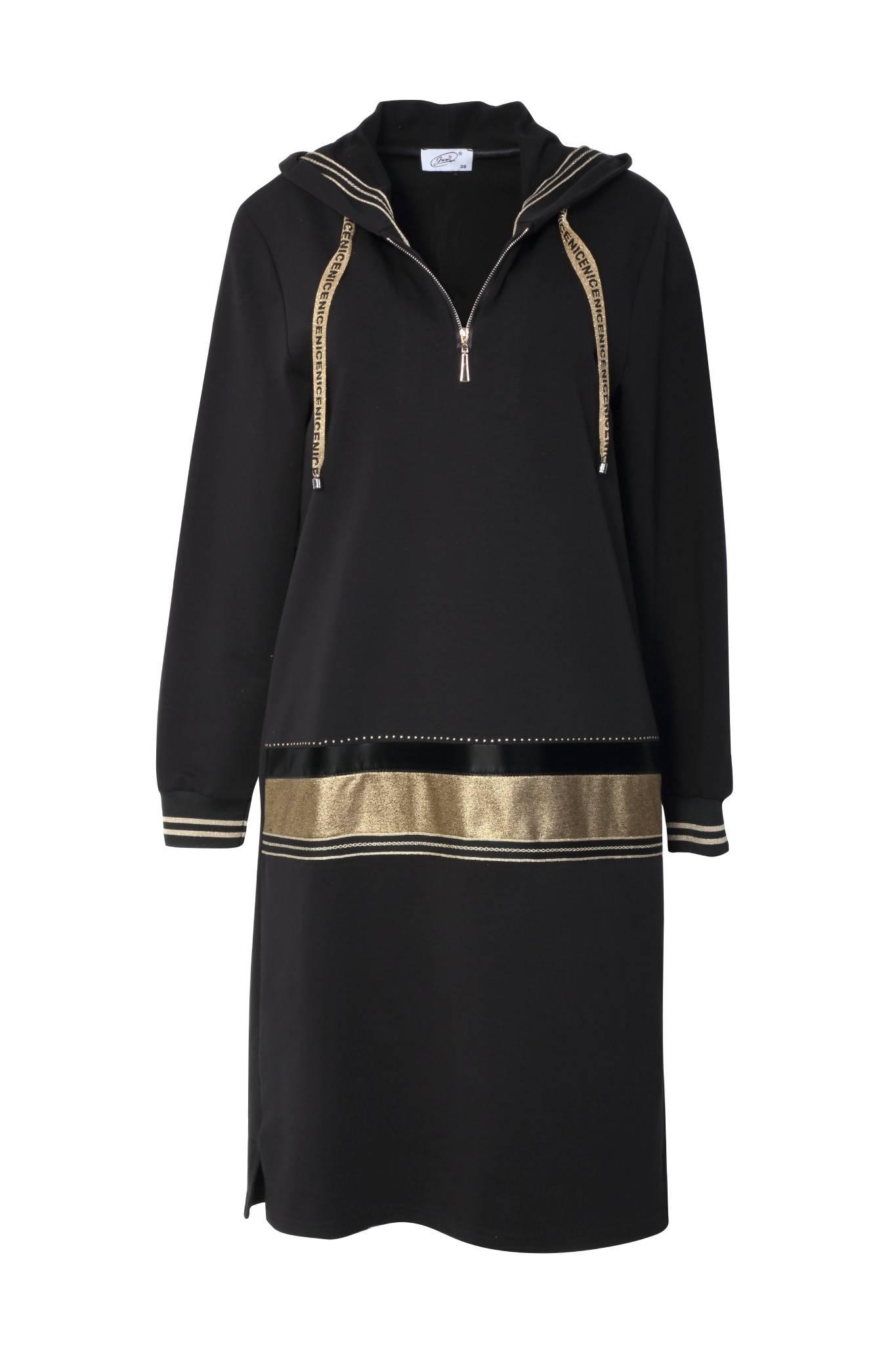 1246 Jumitex sukienka z kapturem