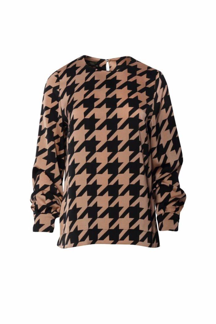 bluzka w pepitkę firmy Jumitex