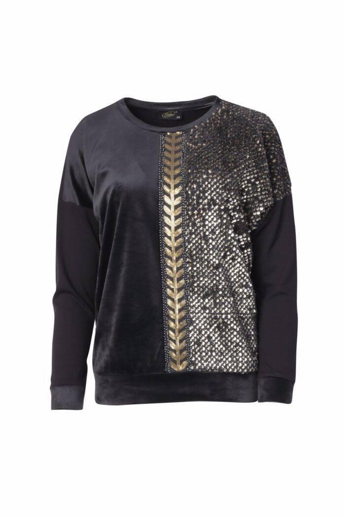bluzka z cekinami polskiego producenta odzieży Jumitex