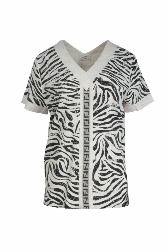 lniana bluzka zebra firmy Jumitex