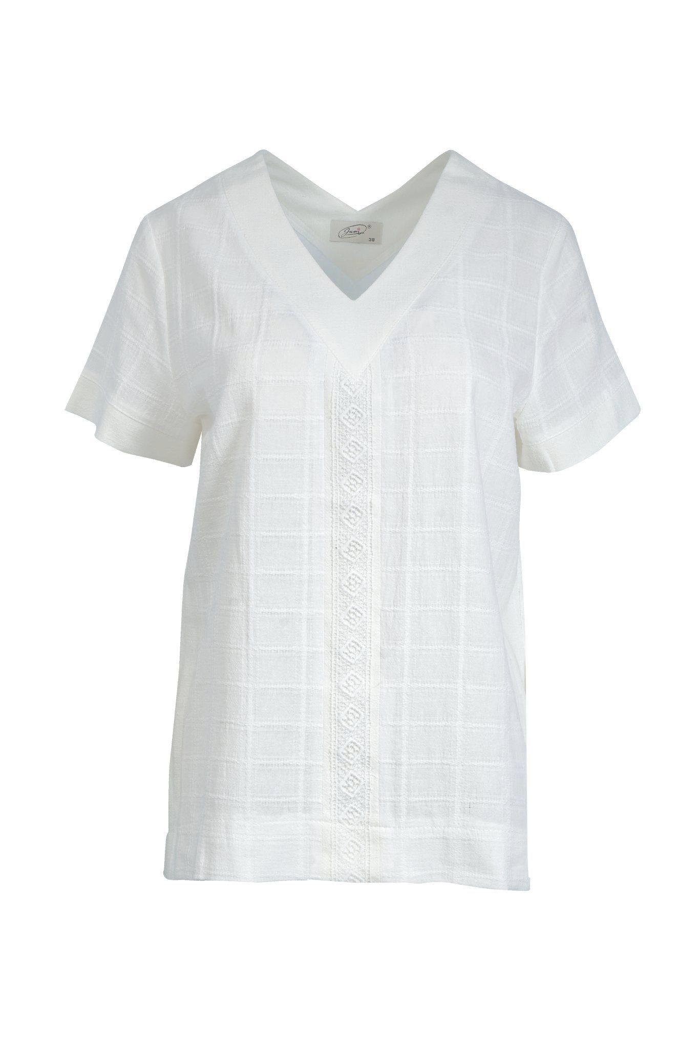 1272 Jumitex biala bluzka z koronka