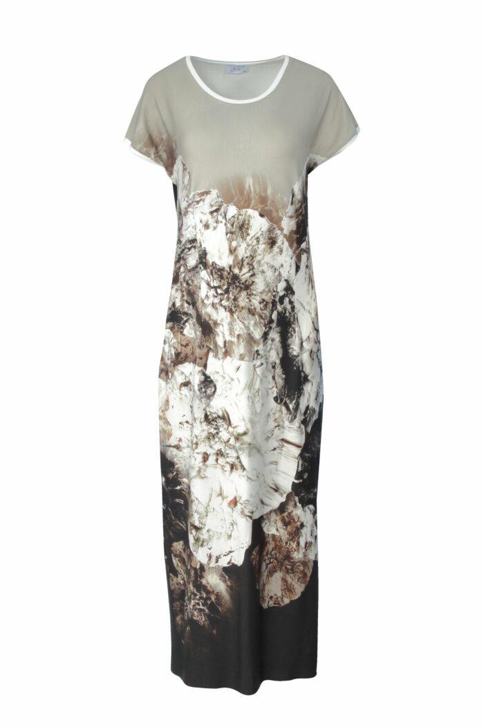 sukienka maxi w kwiaty firmy Jumitex