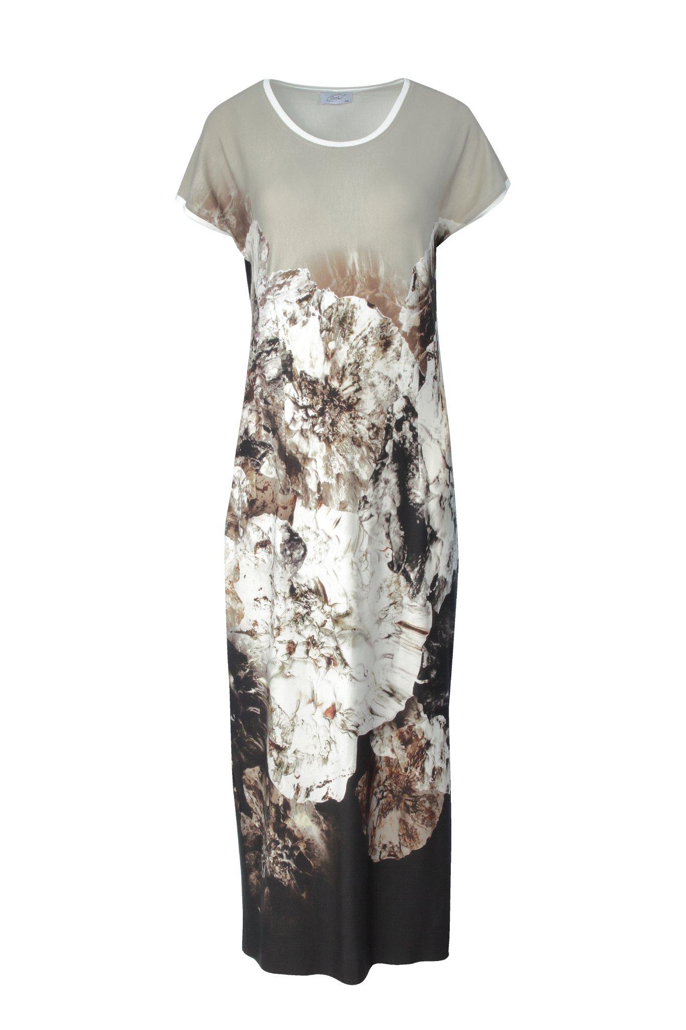 916 Jumitex sukienka maxi w kwiaty