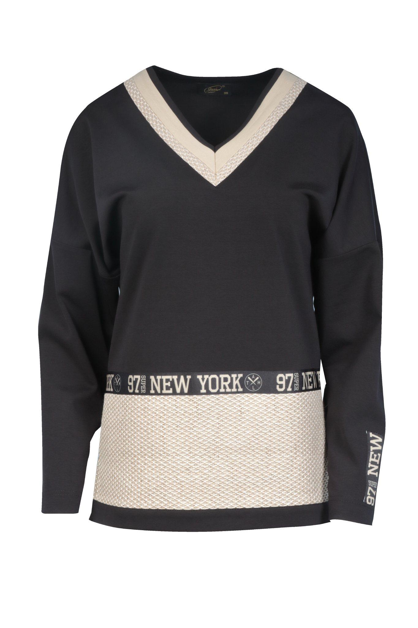1296 Jumitex czarna bluza New York
