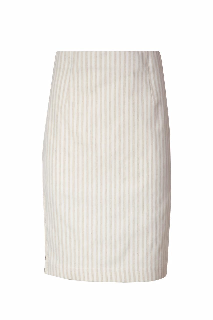 1313A Jumitex spodnica w paski z lnem