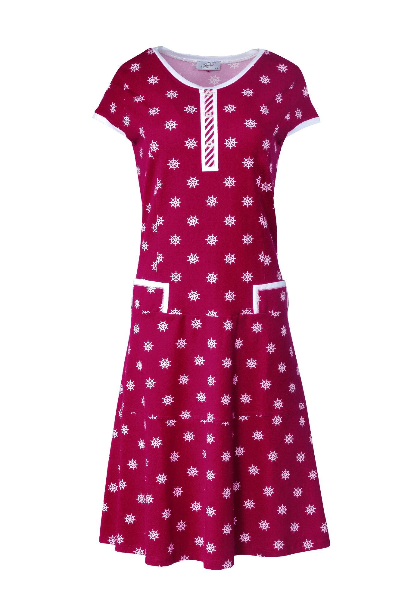 917 Jumitex czerwona sukienka marynarska