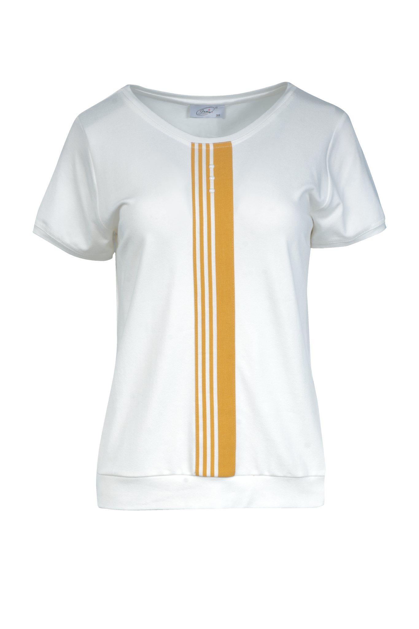 1181 Jumitex kremowa bluzka z plisa