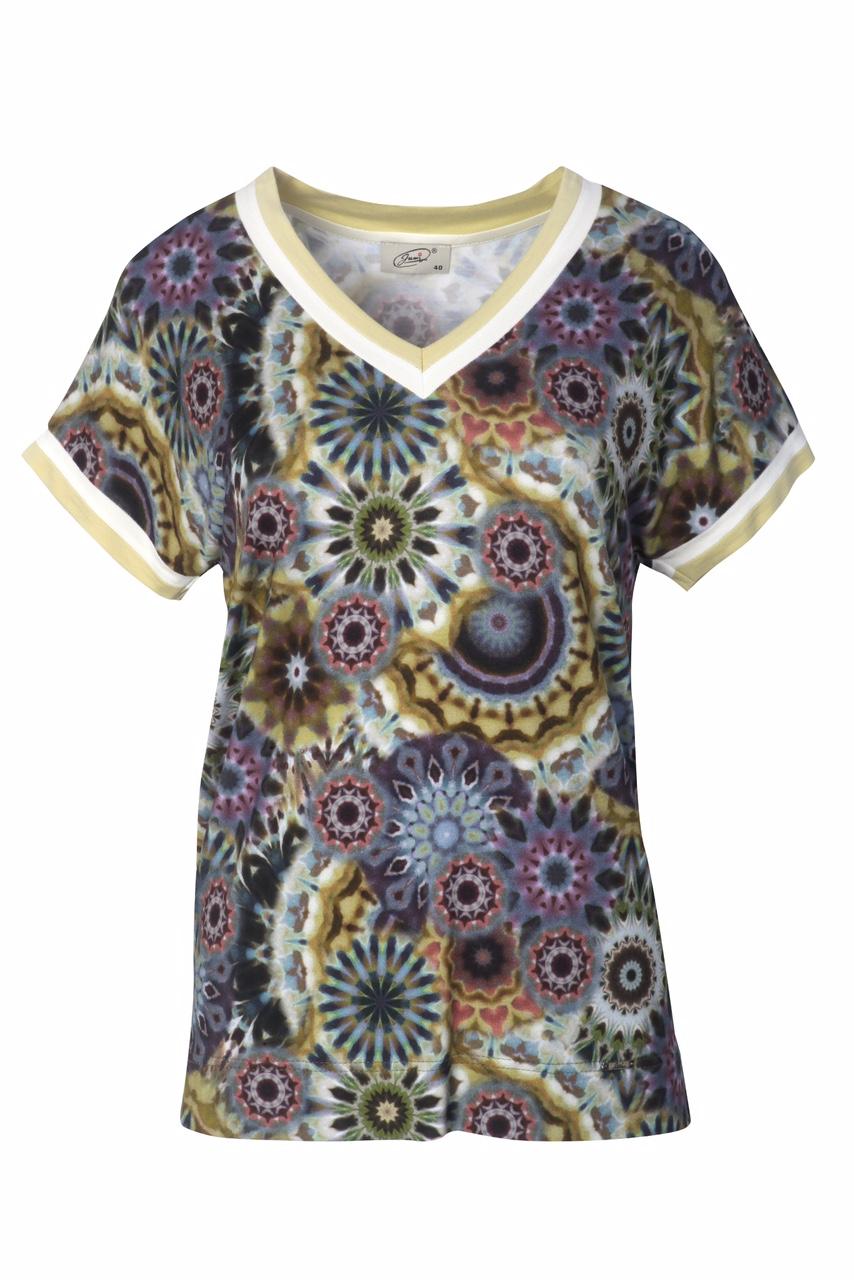 1305 Jumitex bluzka w kwiaty ombre