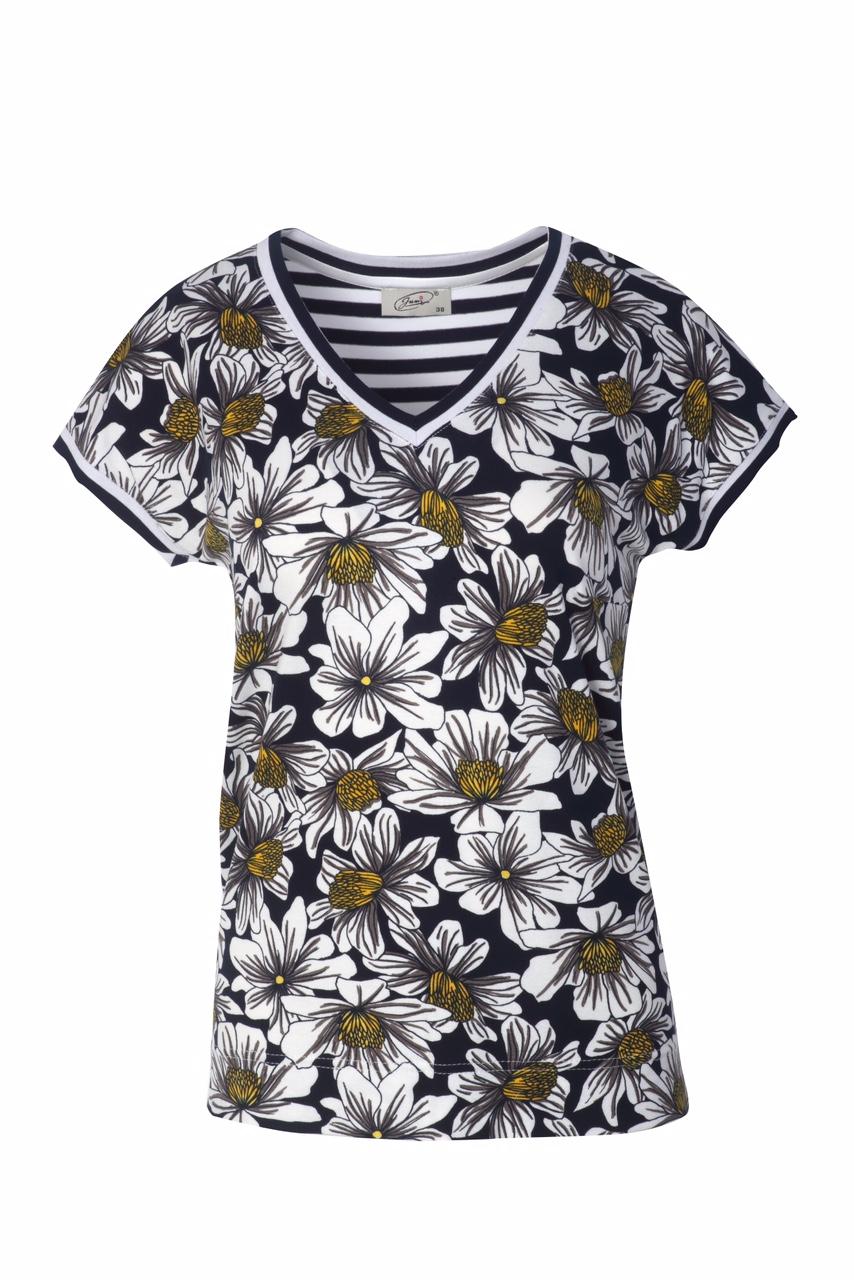 1318 Jumitex bluzka v-neck w kwiatki