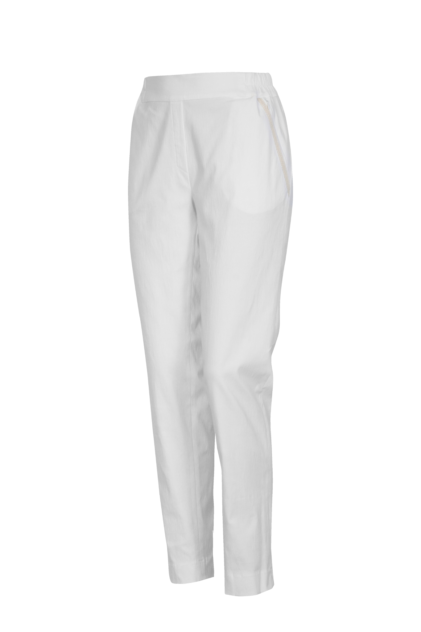 1187 Jumitex biale spodnie na lato