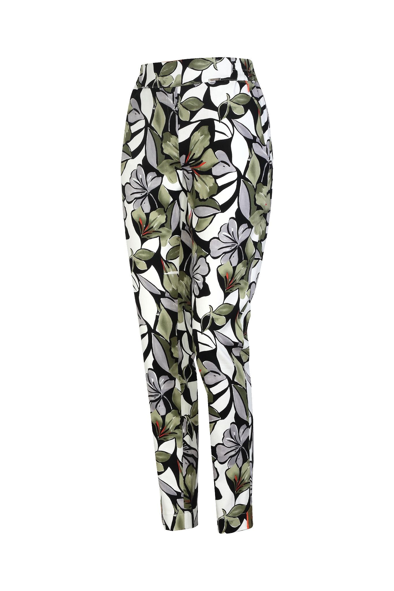 1263 Jumitex spodnie w kwiaty