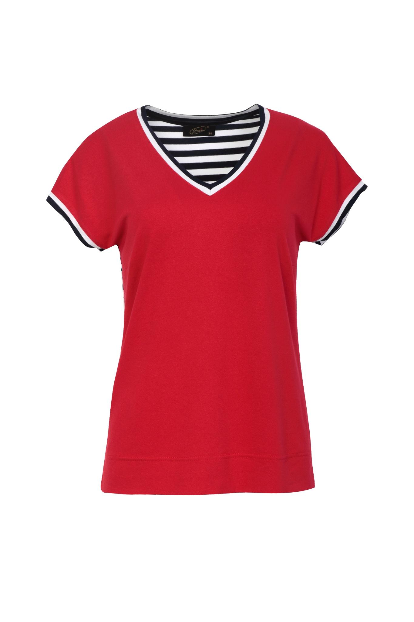 1318-jumitex-bluzka-v-neck-czerwona