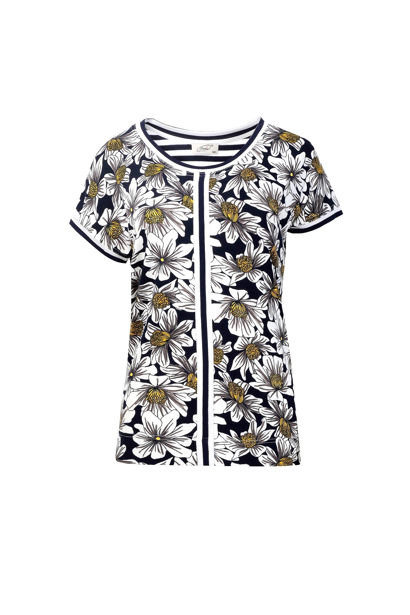 1319 Jumitex wiskozowa bluzka w kwiatki (1)