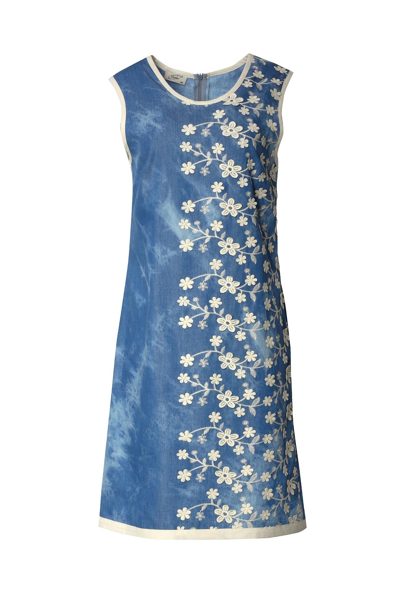 1333 Jumitex bawelniana sukienka z haftami